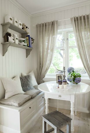 un style scandinave shabby chic - Lambris Chambre Shabby Chic