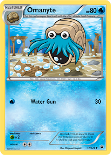 Omanyte Fates Collide Pokemon Card