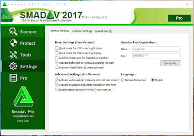Download Smadav Pro 2017 Rev. 11.4 Full Serial Number