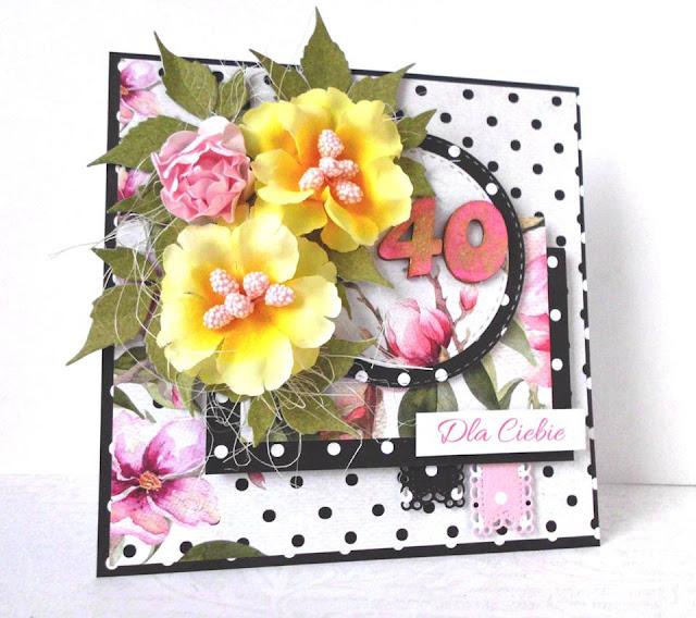 Urodzinowa kartka z kwiatami