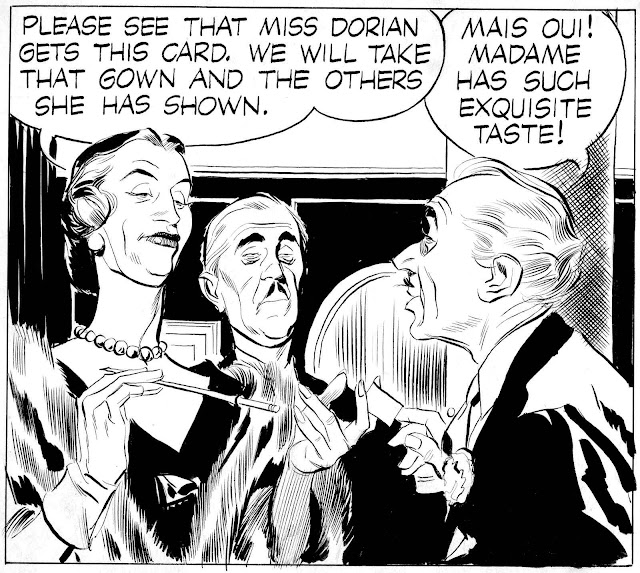 an Alex Raymond story panel with rich snobs