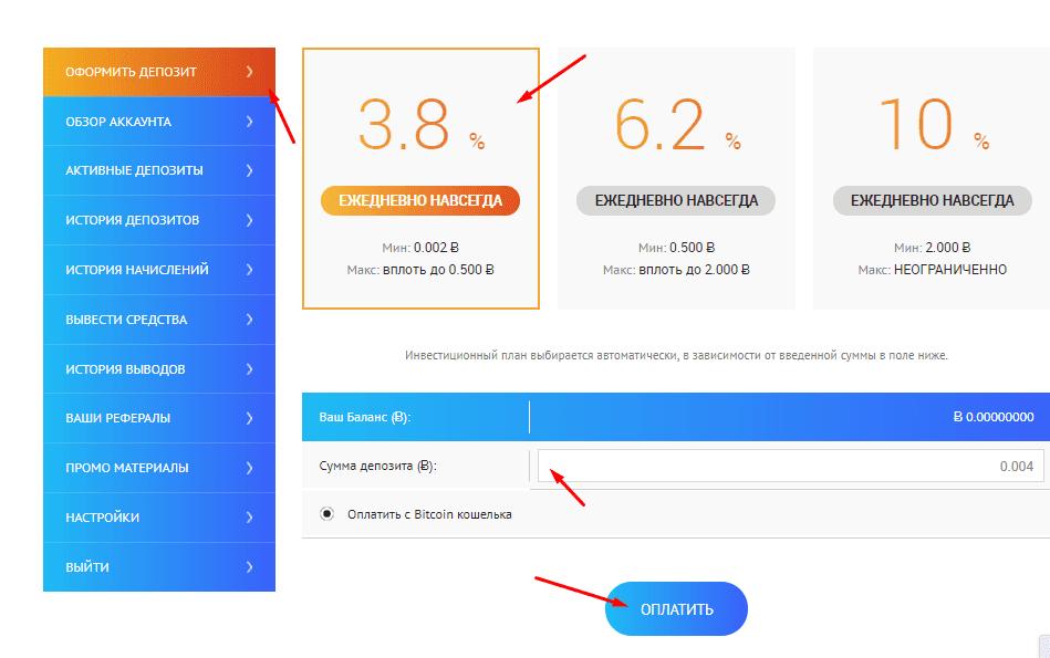 Регистрация в BitAssets 3