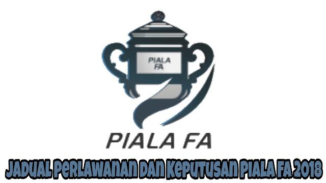 Jadual Perlawanan dan Keputusan Piala FA 2018