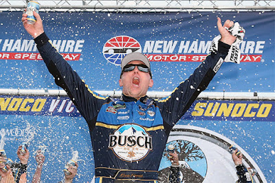 Kevin Harvick in the No. 4 Stewart-Haas Racing Ford Fusion won his sixth Monster Energy NASCAR Cup Series race of the season by winning the Foxwoods Resort Casino 301 on Sunday at New Hampshire Motor Speedway.