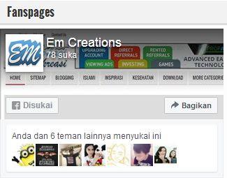 Cara Instant Memasang Widget Fanspage Facebook Diblog