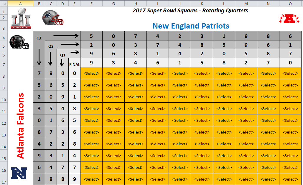 excel spreadsheets help super bowl squares template 2017