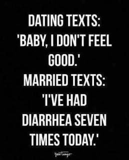 I've had diarrhea seven times today.