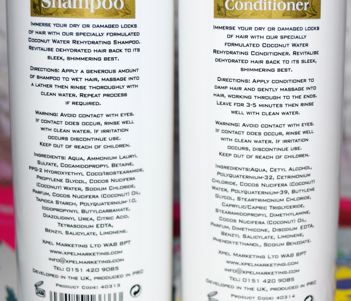 XHC Coconut Water shampoo and conditioner