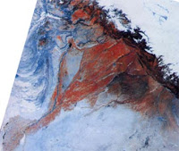Satellite imagery of the Dried Up Sarasvati River Basin