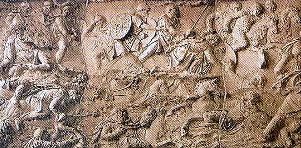 Basoreliefuri sculptate pe Monumentul triumfal Tropaeum Traian din Constanța.