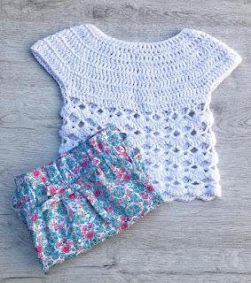 camiseta de punto crochet
