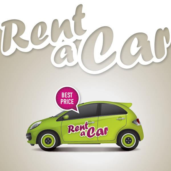 rent a car free vector