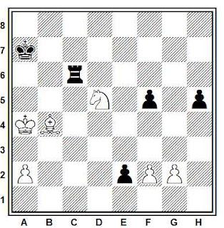 Problema ejercicio de ajedrez número 766: Estudio de N. Kralin, A. Kuznetsov y V. Neistadt (3º Premio Schachmaty, 1981)