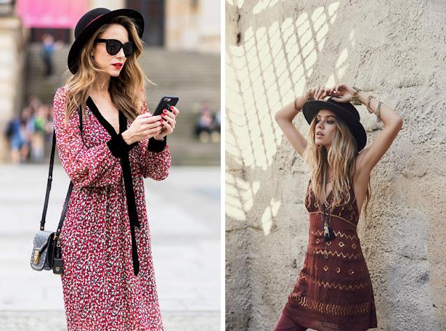 Девушка в соломенной шляпе канотье летом в городе в стиле бохо