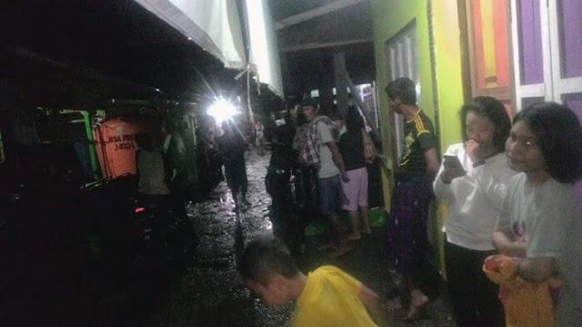Pemandangan warga tarakan saat terjadi gempa dini hari
