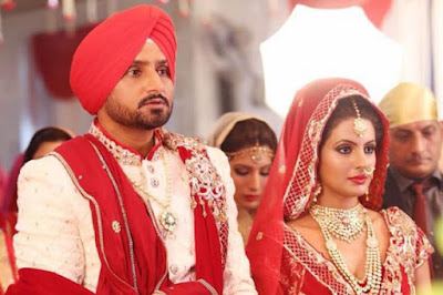 Harbhajan-Singh-with-wife-Geeta-Basra-Anand-Karaj