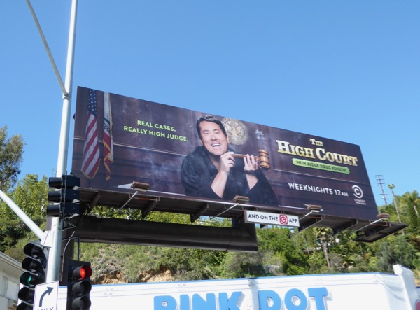High Court Judge Doug Benson billboard