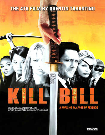 Poster Of Kill Bill: Vol. 1 2003 Dual Audio 130MB BRRip HEVC Mobile ESubs Free Download Watch Online Worldfree4u