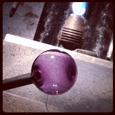 Purple glass bubble