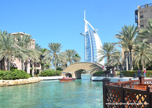 Burj Al Arab view from Souk Madinat