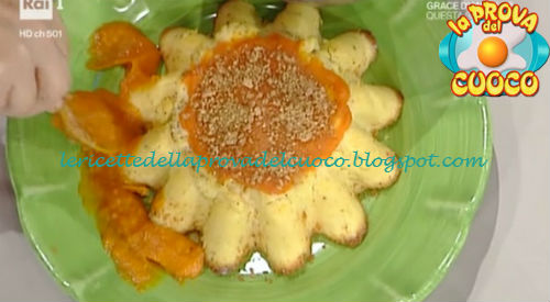 Budino al formaggio con composta di zucca ricetta Anna Moroni