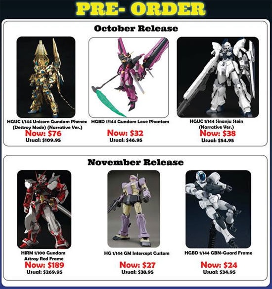 Gunpla Expo Singapore 2018 pre-order offers