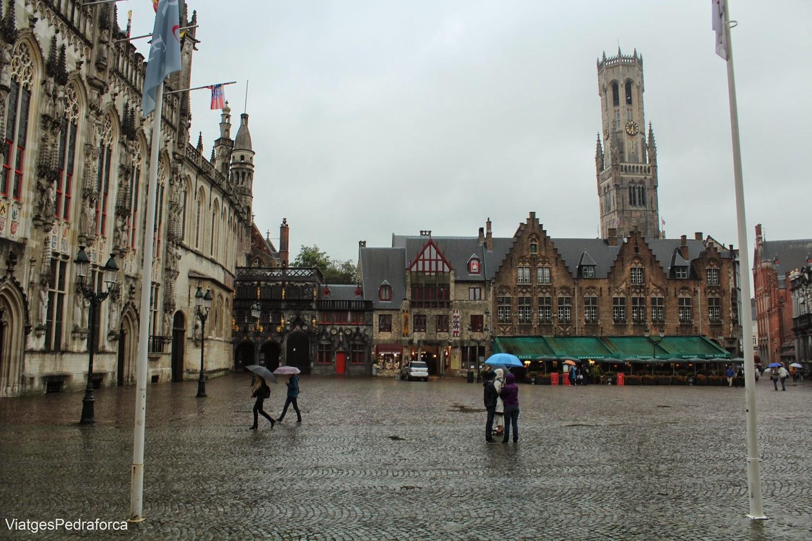 Plaça Burg de Bruges, Brugge, Flandes, Belgica