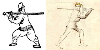 Italian Longsword Woman's Guard on the left