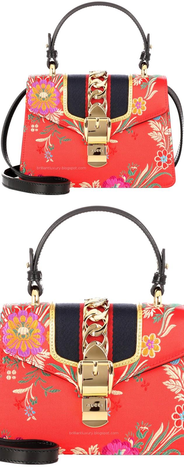 Brilliant Luxury ♦ Gucci Sylvie mini red satin shoulder bag