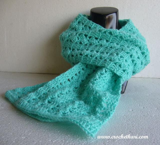 Slantnstripe scarf free crochet pattern