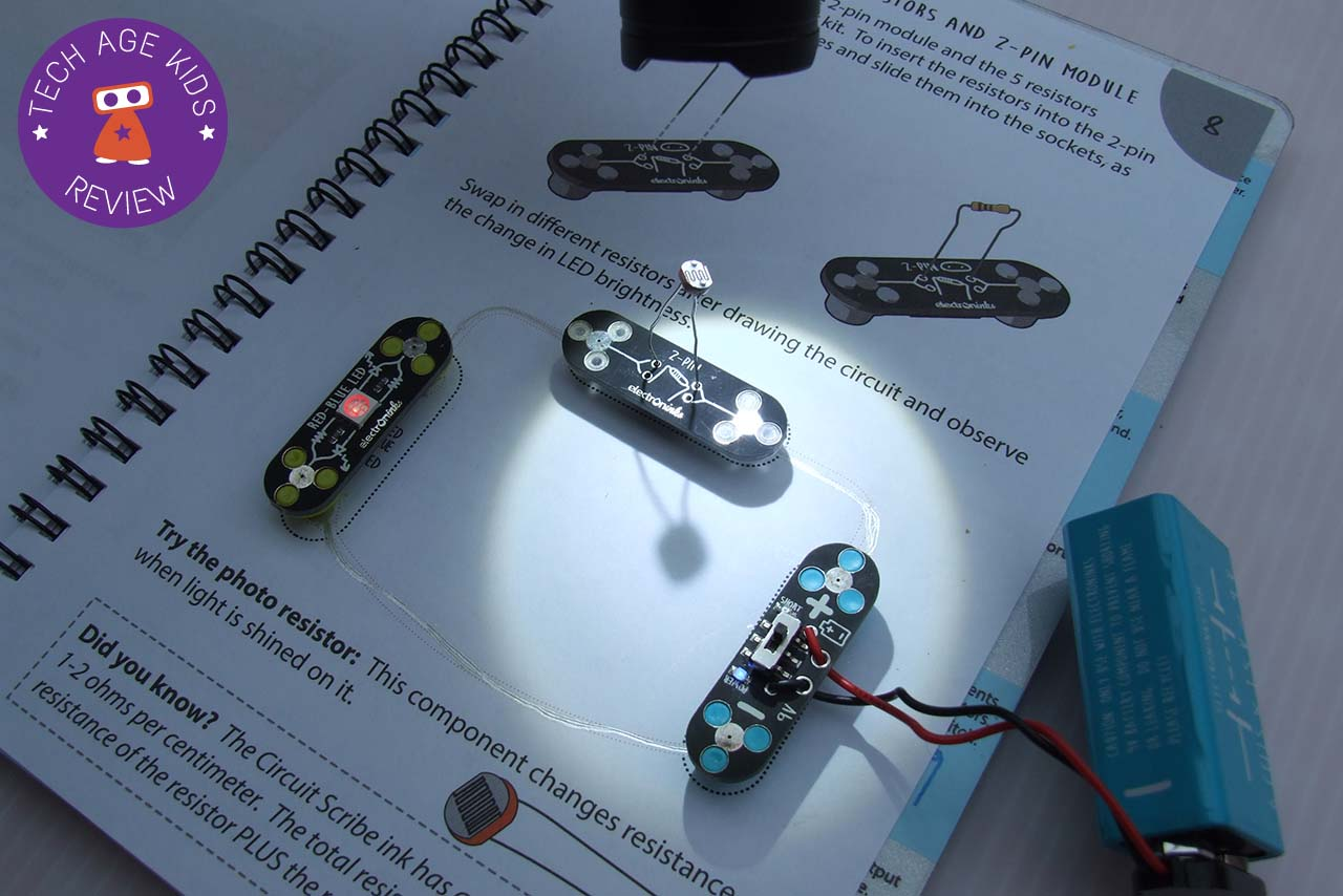 Electroninks Circuit Scribe Review Electronic Components As Light Sensor Different Values And A Dependent Resistor These Are Used In Projects That Explain Resistance You Can Also Use Your Own Which Adds