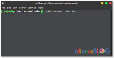 menjalankan 4k video downloader dari terminal