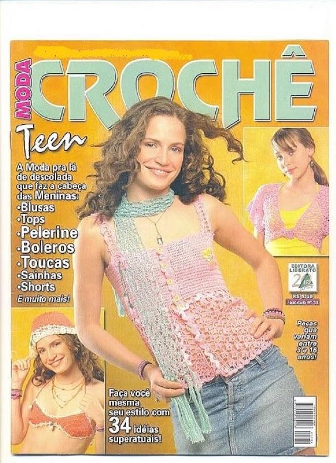 Moda Crochê Teen-Revista Crochê