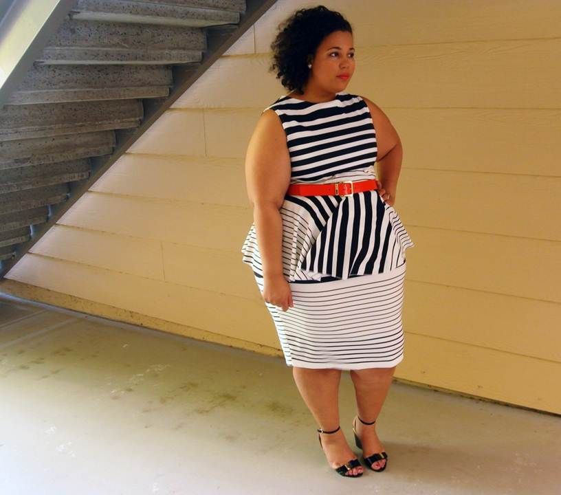 JIBRI, Plus size peplum dress, plus size clothing