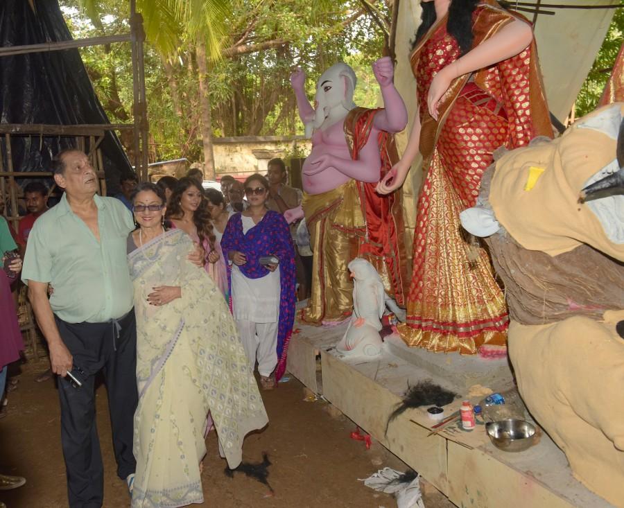 Kajol, Tanisha Mukherjee at North Bombay Sarbojanin Durga Puja