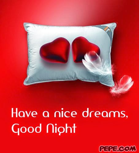 Red Heart With Pillow Wishes Good Night Wallpaper With Message