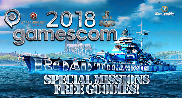 #WORLDOFWARSHIPS Road to Gamescom - Special Missions + Free Goodies!