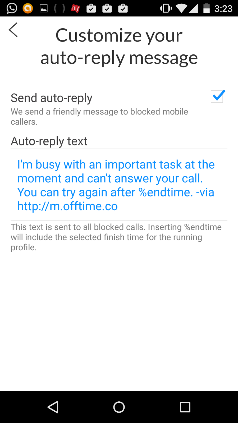 offtime-custom-messages