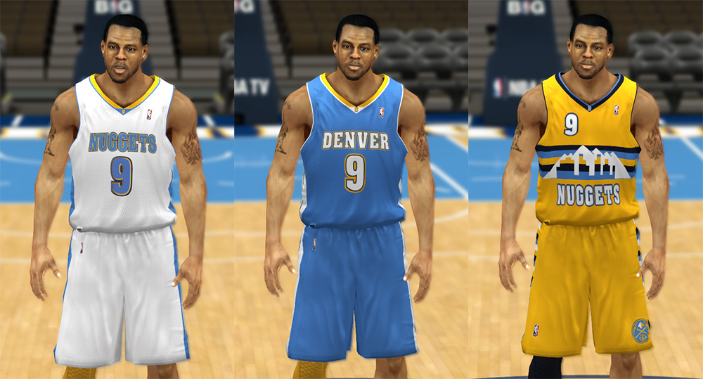 huge selection of 82dc2 c21da NBA 2K13 Denver Nuggets Jersey Pack - NBA2K.ORG