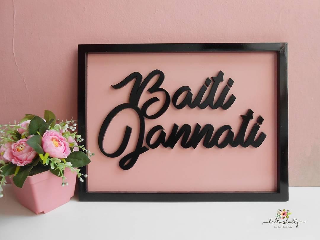Jual Wall Decor Baiti Jannati Hello Shabby Furniture