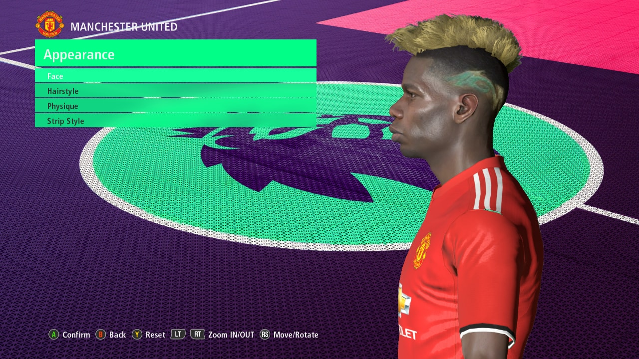 Pes Modif Pes 2017 Pogba Face Fix Update By Ahmed Tattoo