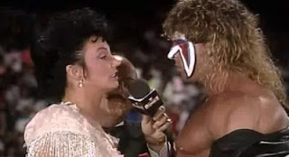 WWF ROYAL RUMBLE 1991 - Sensational Sherri attempts to seduce WWF Champion, The Ultimate Warrior