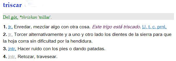 Triscar - definición