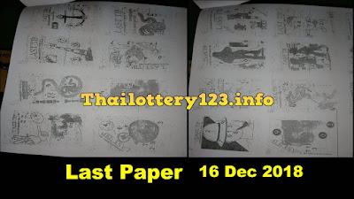 Thai Lottery Last tip helicopter paper Full Magazine 16 December 2018