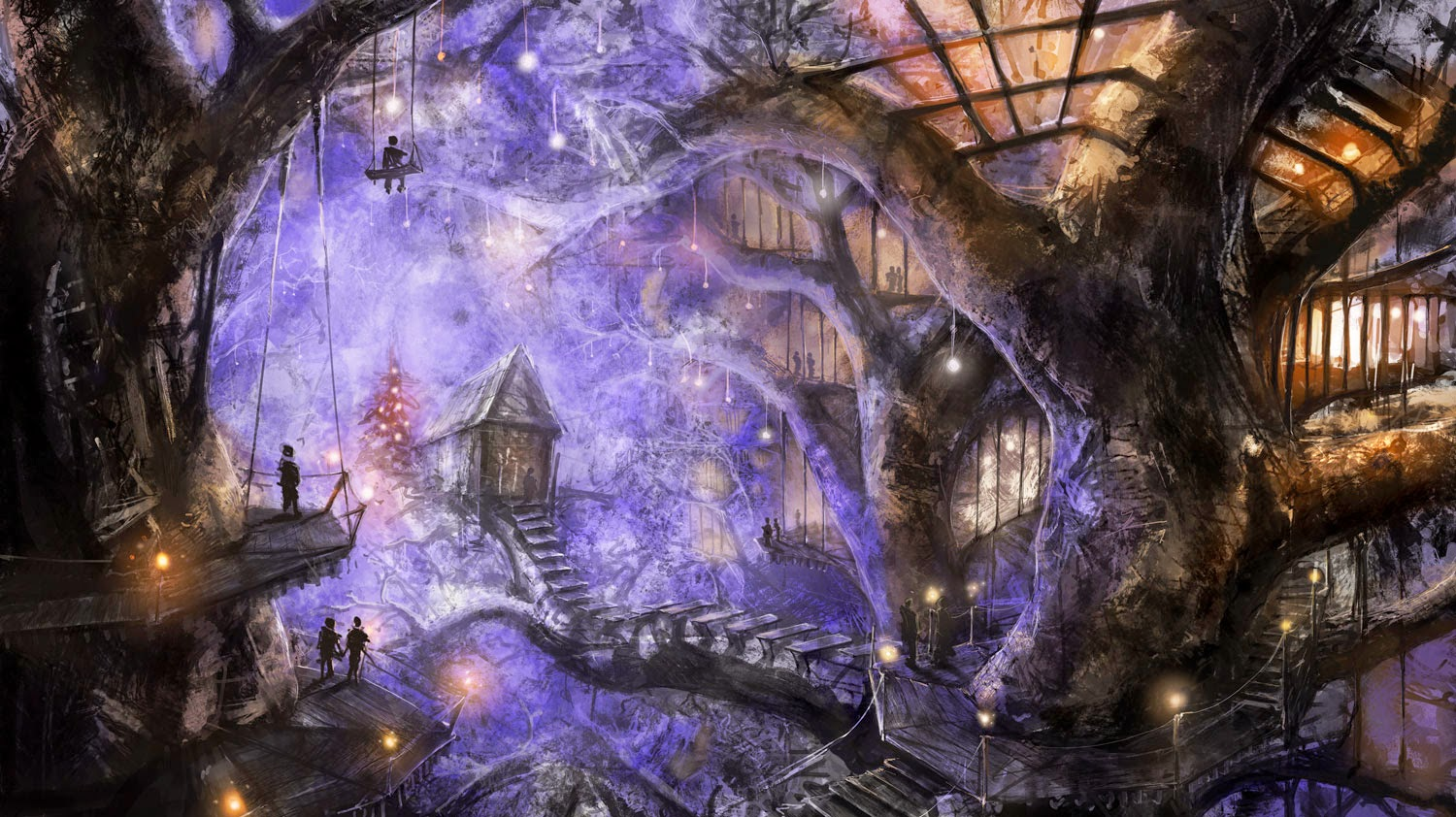 Gnome Animated Wallpaper Beautiful Tree House Fantasy Fairy Tale Images Pictures Hd