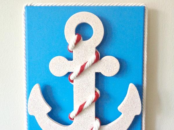 DIY: Nautical Anchor Wall Art on Homedit