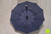 Erfahrungsbericht: Golf Regenschirm, Pomelo Best Automatik auf Windresistent mit 128cm Durchmesser aus robusten 190T Pongee Stockschirm geeignet für 3-4 Personen