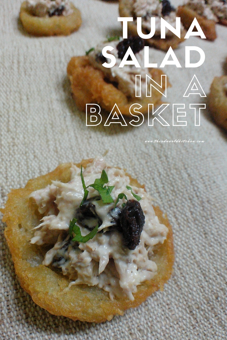 Tuna Salad in a Basket - Potato Basket