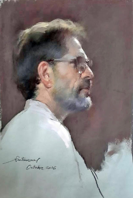 Felipe Santamans, Self Portrait, Portraits of Painters, Fine arts, Portraits of painters blog, Paintings of Felipe Santamans, Painter Felipe Santamans