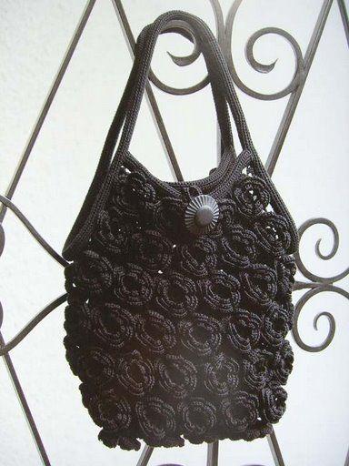 Patrón #1136: Bolso a Crochet